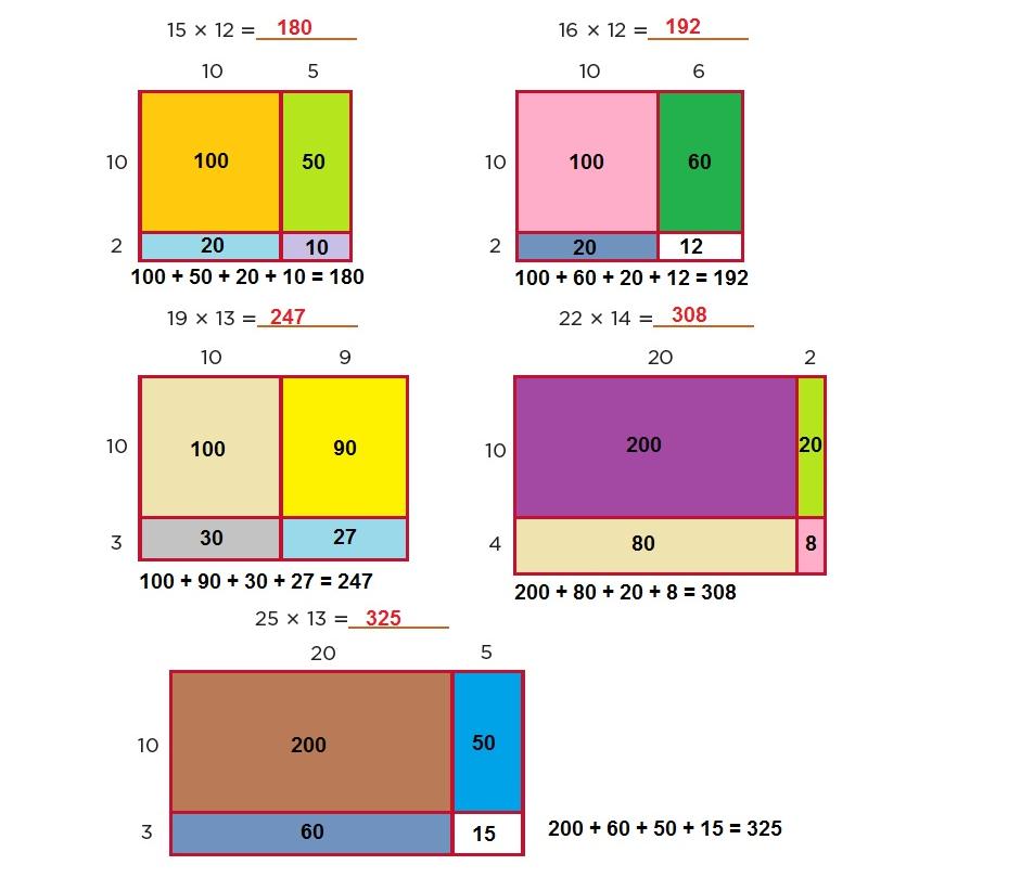 55. Multiplicación con rectángulos - Ayuda para tu tarea